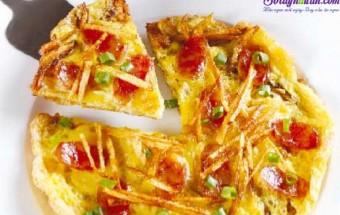 Nấu ăn món ngon mỗi ngày với Bột gạo, bánh pizza khoai tây