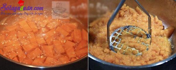 Cách làm bánh khoai lang nhân đậu đỏ siêu ngon,dễ làm 1