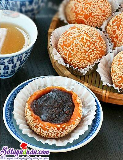 Cách làm bánh khoai lang nhân đậu đỏ siêu ngon,dễ làm 6