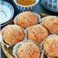 cupcake ngon, Cách làm bánh khoai lang nhân đậu đỏ siêu ngon,dễ làm kết quả
