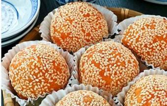 Nấu ăn món ngon mỗi ngày với Bột nở, Cách làm bánh khoai lang nhân đậu đỏ siêu ngon,dễ làm kết quả