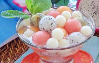 Nấu ăn món ngon mỗi ngày với Nước cốt dừa, Cách làm chè bi trái cây cực ngon và mát lạnh kết quả