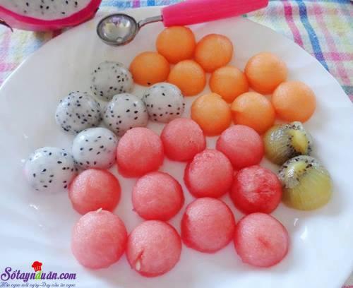Cách làm chè bi trái cây cực ngon và mát lạnh nguyên liệu