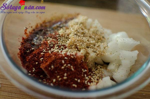 Cách làm đậu phụ rán trứng kiểu Hàn chua cay tuyệt ngon 3