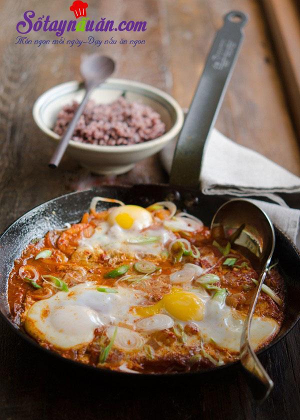 Cách làm đậu phụ rán trứng kiểu Hàn chua cay tuyệt ngon kết quả