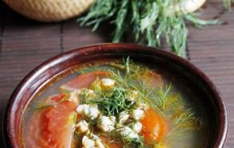 món ngon miền tây, cách làm món canh hến nấu chua