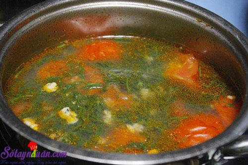cách làm món canh hến nấu chua 4