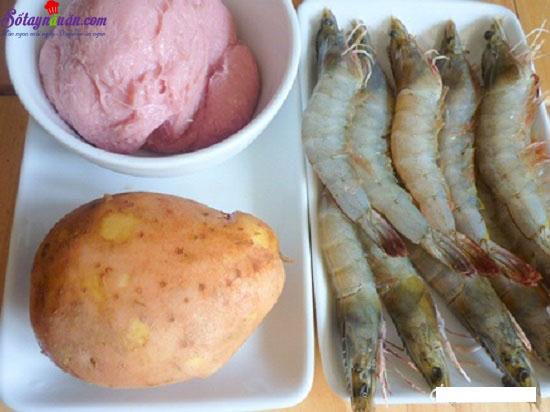 cách làm món tôm cuốn khoai tây 1
