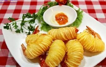 Nấu ăn món ngon mỗi ngày với Tương ớt, cách làm món tôm cuốn khoai tây 6