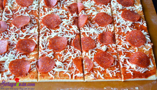 cách làm  pizza xé lớp 3