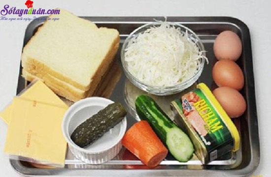 cách làm sandwich đơn giản