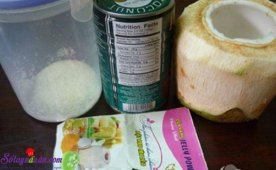 cách làm thạch dừa xiêm 2