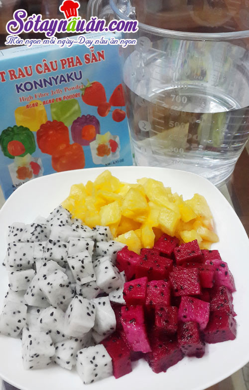 Cách làm thạch hoa quả ngọt mát cho ngày hè nắng nóng 1