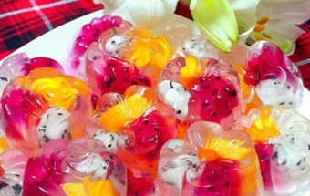 Nấu ăn món ngon mỗi ngày với Nước dừa tươi, Cách làm thạch hoa quả ngọt mát cho ngày hè nắng nóng kết quả