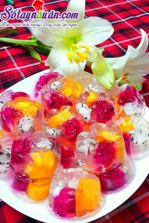 Cách làm thạch hoa quả ngọt mát cho ngày hè nắng nóng kết quả