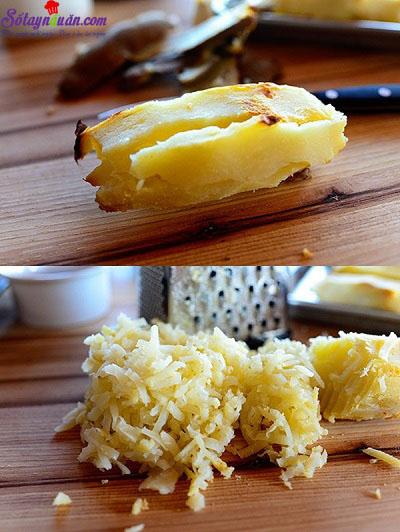 cách làm trứng nướng khoai tây 1