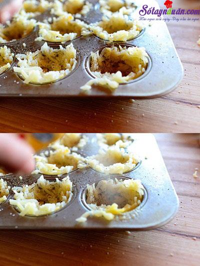 cách làm trứng nướng khoai tây 4
