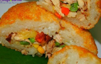 Nấu ăn món ngon mỗi ngày với Gà, Cách làm xôi chiên 7
