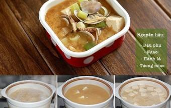 , cách nấu canh ngao đậu phụ
