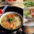cách làm bún tôm, cách nấu canh tôm chua
