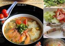 Cách làm món canh tôm khế chua