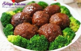 Nấu ăn món ngon mỗi ngày với Hành, Công thức thịt viên trứng cút sốt lạ miệng kết quả