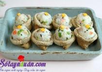 Hướng dẫn làm sushi đậu hũ chiên kiểu Hàn lạ miệng