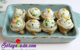 Nấu ăn món ngon mỗi ngày với Hạt mè, Hướng dẫn làm sushi đậu hũ chiên kiểu Hàn lạ miệng kết quả
