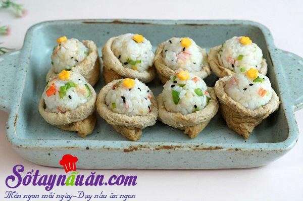 Hướng dẫn làm sushi đậu hũ chiên kiểu Hàn lạ miệng kết quả