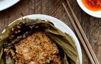 Nấu ăn món ngon mỗi ngày với Nấm hương tươi, Hướng dẫn làm xôi gà lá sen ngon tuyệt hảo kết quả