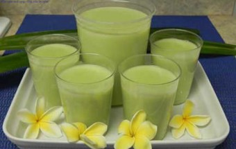 Món ăn lạ, làm sữa đậu xanh cốt dừa 1