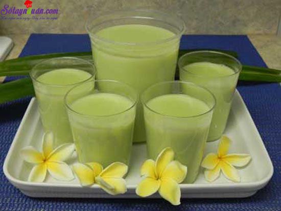 làm sữa đậu xanh cốt dừa 1