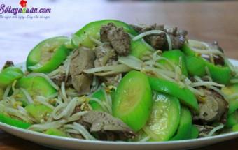 Nấu ăn món ngon mỗi ngày với Hạt nêm, cách làm mướp xào lòng gà 2