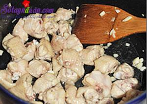cách làm gà xào húng quế 3