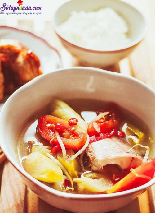 Bí quyết nấu canh chua cá lóc thơm ngon tròn vị 6