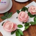 bánh trung thu, các bước làm bánh bao hoa hồng 8