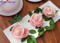 Cách làm bánh bao hoa hồng đẹp mắt