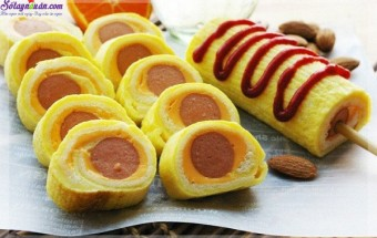 , cách làm bánh mì cuộn trứng phô mai 7