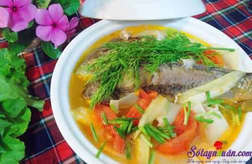 Cách làm canh cá nấu măng thơm ngon đúng điệu