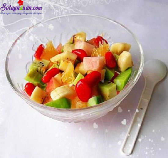 cách làm hoa quả dầm 1