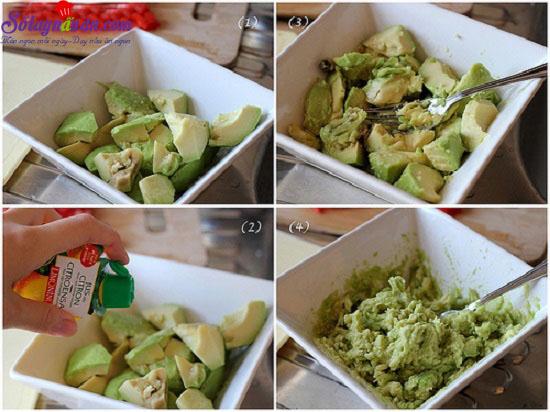 cách làm salad bơ từ Mexico  4