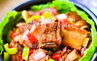 món ăn hà nội, cách làm sườn xào ngũ sắc 6