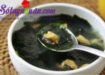 Học nấu canh ngao rong biển ngọt mát cho bữa tối