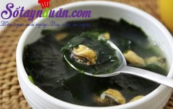 Nấu ăn món ngon mỗi ngày với Hành tím, Học nấu canh ngao rong biển ngọt mát cho bữa tối