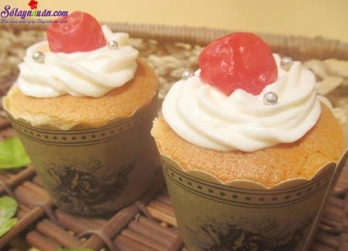 Công thức cho cupcake nhân kem chanh leo tuyệt ngon kết quả