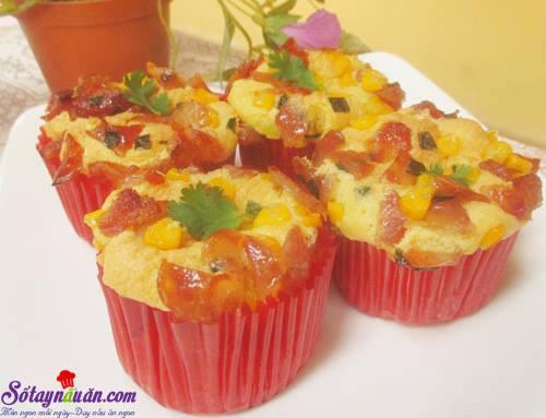 Công thức làm bánh bông lan nhân mặn siêu ngon kết quả