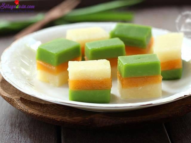 Hướng dẫn làm bánh sắn ba màu thơm ngon,mát lạnh 3.1