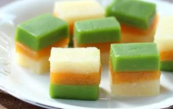 cách làm bánh, Hướng dẫn làm bánh sắn ba màu thơm ngon,mát lạnh kết quả