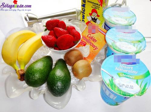 Hướng dẫn làm sinh tố hoa quả kem tươi siêu ngon nguyên liệu