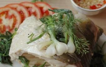 món ăn hấp, cách làm cá hấp bia ngon tuyệt 5